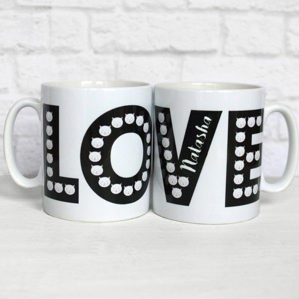 Personalised Frida Cats Love Mug