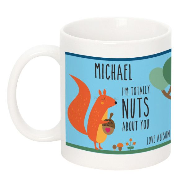 Personalised 'Nuts About You' Mug