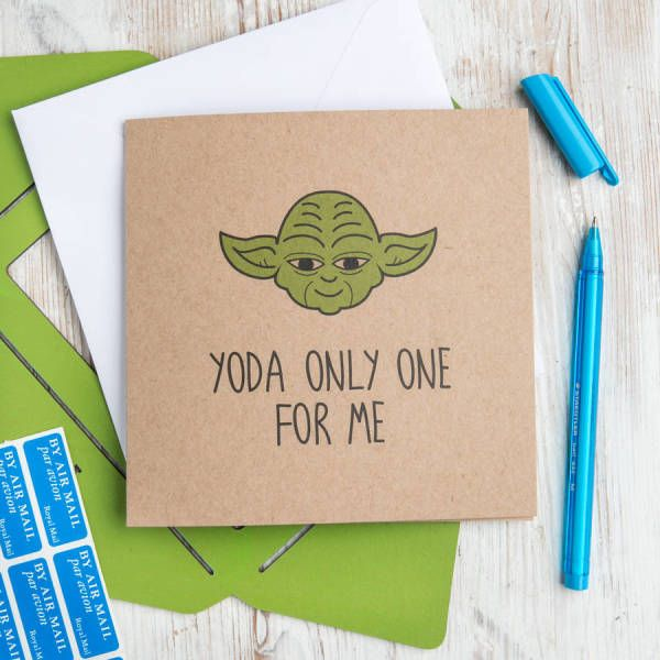 Gifts for him ideas star wars yoda only one for me greetings gifts for him star wars solutioingenieria Gallery