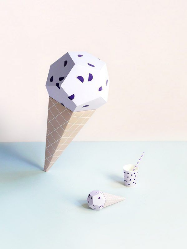 Giant Ice Cream Paper Sculpture Kit – Blueberry | Moon Picnic x Mr P