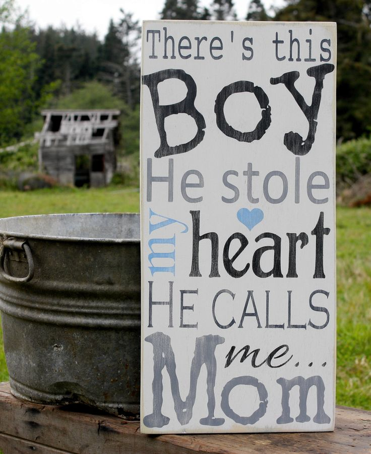 Mom Birthday Gifts Baby Boy Sign Vintage Nursery Wall Decor