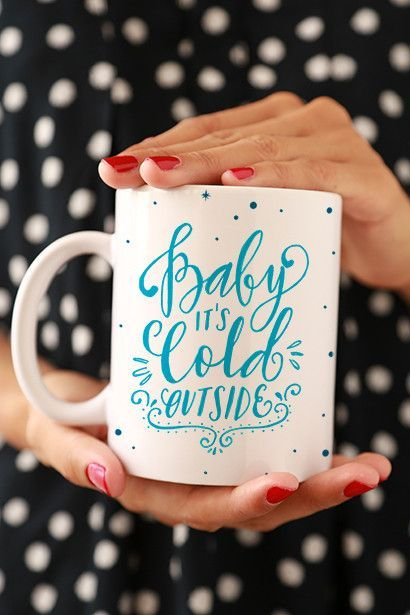 Mom Birthday Gifts Baby Its Cold Outside Mug Maybe Grandmas Aunt Cousin Can Have Hot Coc