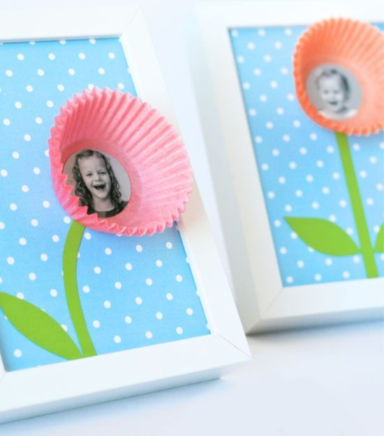 Cupcake Liner Smile Blossoms   Click Pic for 20 DIY Mothers Day Craft Ideas for ...