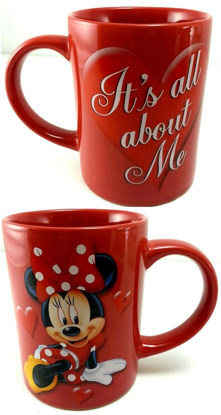 Disney's Minnie Mouse bright red Jerry Leigh It's All About ME coffee mu...