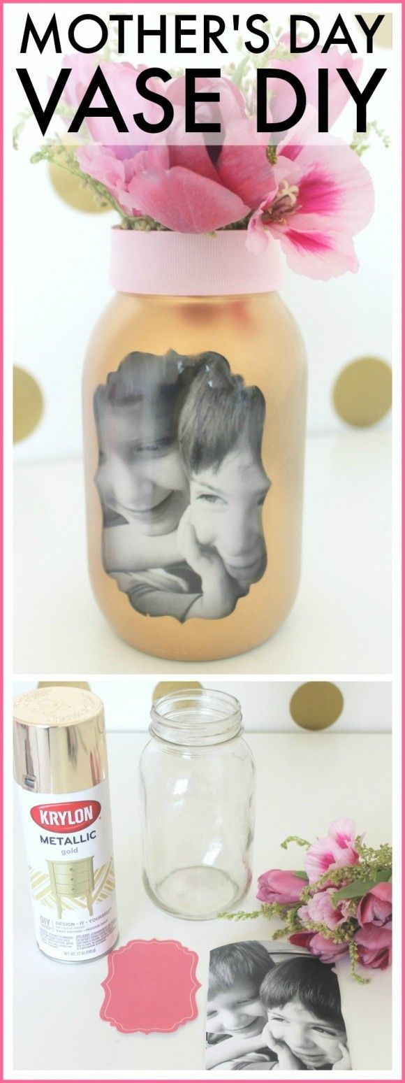 Mom Birthday Gifts Easy Mothers Day Photo Vase Craft This Is A