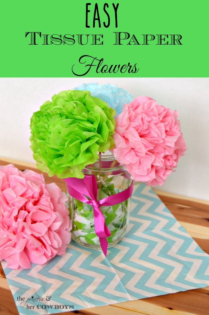 Mom birthday gifts easy tissue paper flowers l the princess her mom birthday gifts izmirmasajfo