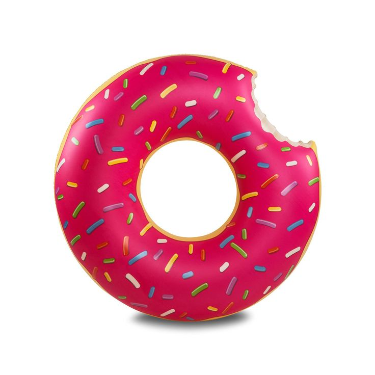 Fun Food of a Different Sort: Gigantic Donut Pool Float (Strawberry Frosted with...