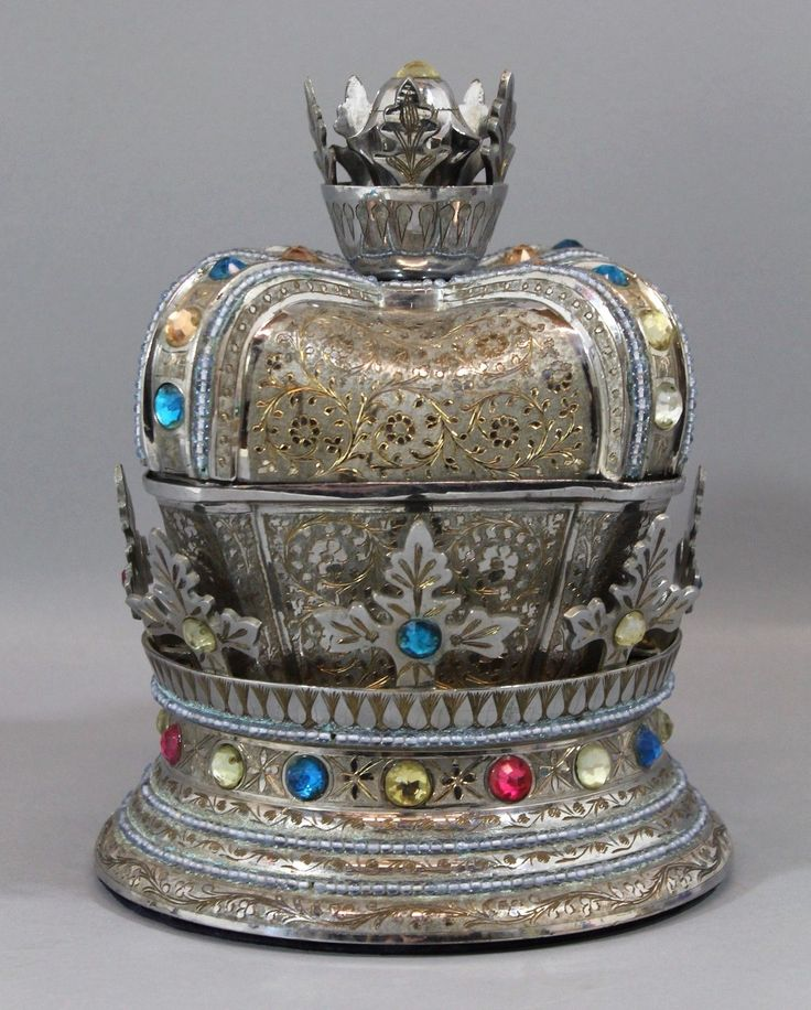 Mom Birthday Gifts Large Antique Engraved Jeweled Crown Thorens