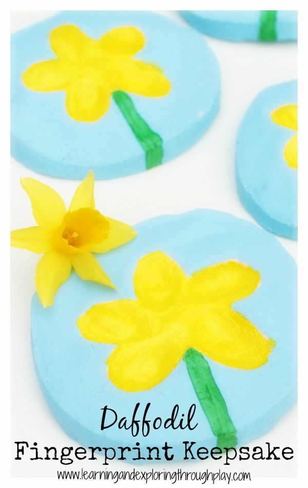 Learning and Exploring Through Play: Daffodil Thumb Print Salt Dough Keepsake