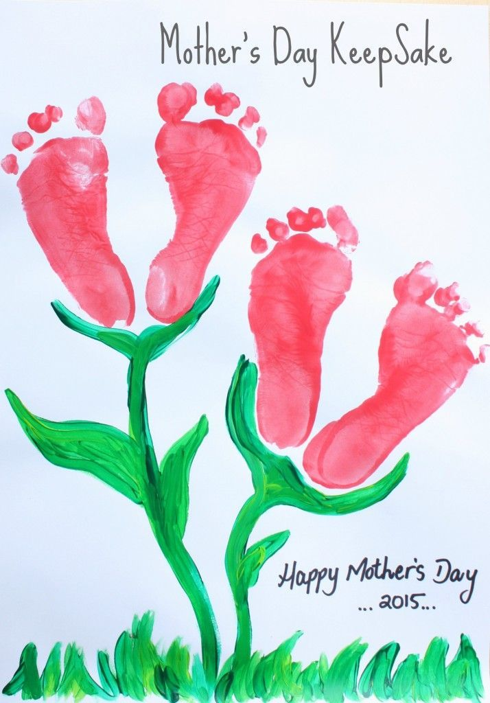 Mom Birthday Gifts Mothers Day Keepsake Footprint Childrens Craft