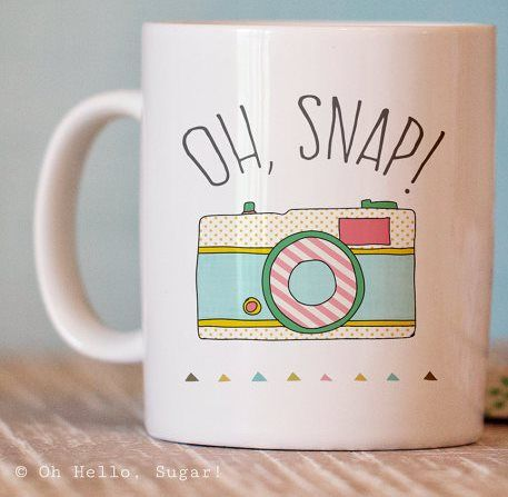 Oh, Snap! Photography themed mug for the photographer.