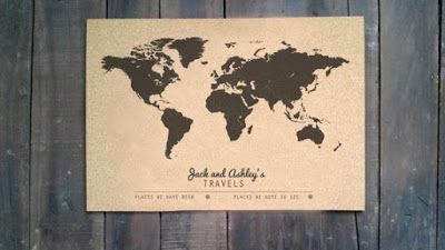 Treasures By Brenda: TRAVEL GIFTS: Personalized Cork World Travels Map