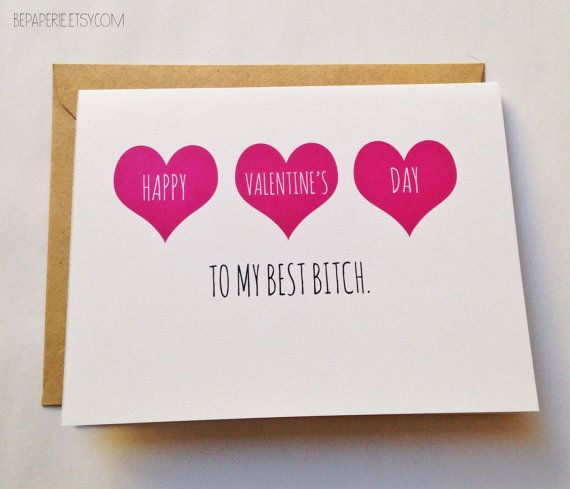 Valentines Day Gifts : 20 Funny Etsy Valentine's Day Cards For Your