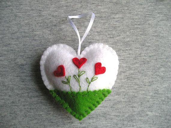 Valentines day gifts adornos fieltro corazones flores for Decoracion de pascua