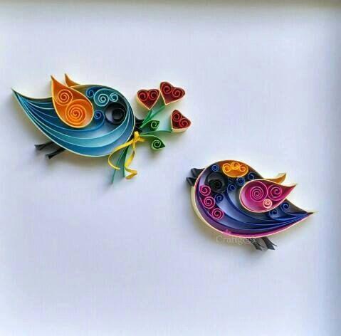 Amour des oiseaux oiseaux de Saint-Valentin oiseaux par PaperSplash