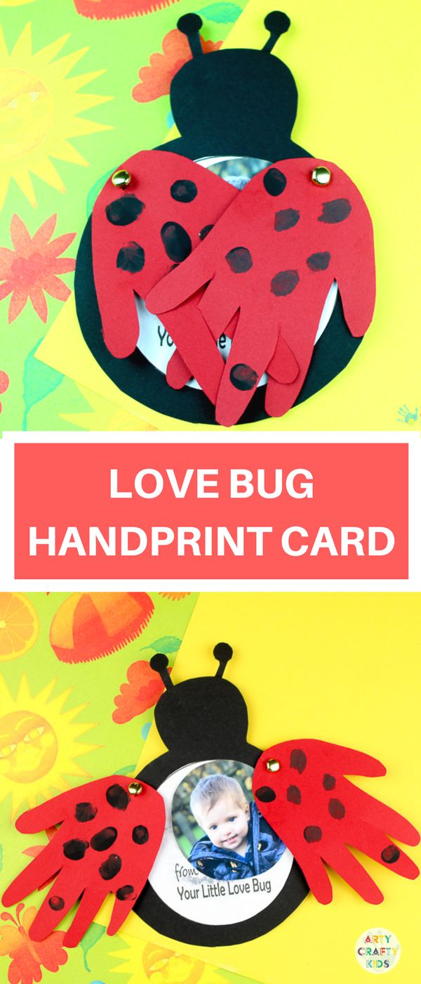 Arty Crafty Kids | Valentines Crafts for Kids | How to make a Love Bug Handprint...