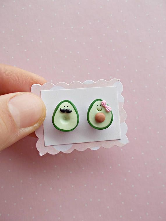 #avocado #earrings #valentinesday Avocado Earrings - Valentines Day Gift for her...