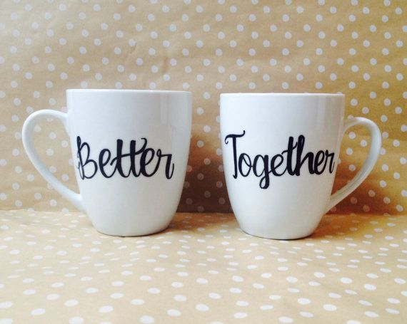 Valentines Day Gifts Better Together Couples Coffee Mug Set