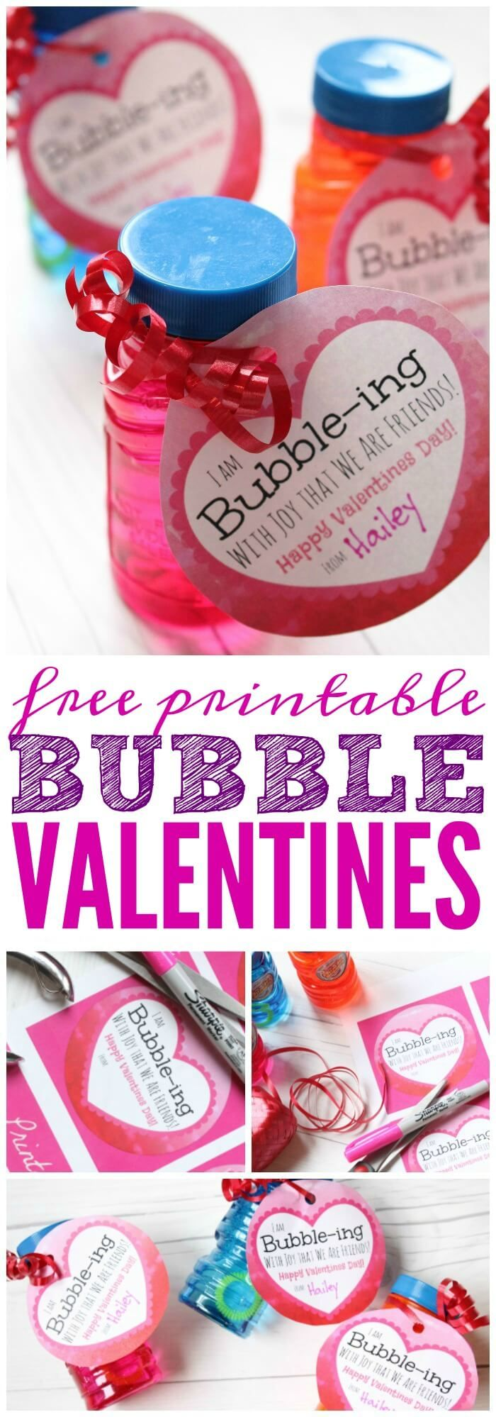 Bubbles Valentine Printable! A FREE Printable Valentines Day Idea that is candy ...