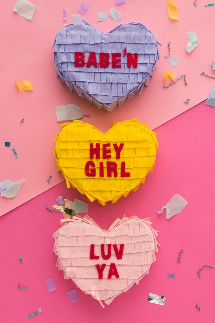 DIY conversation heart piñata care packages for your BFFs with this Valentine&#...