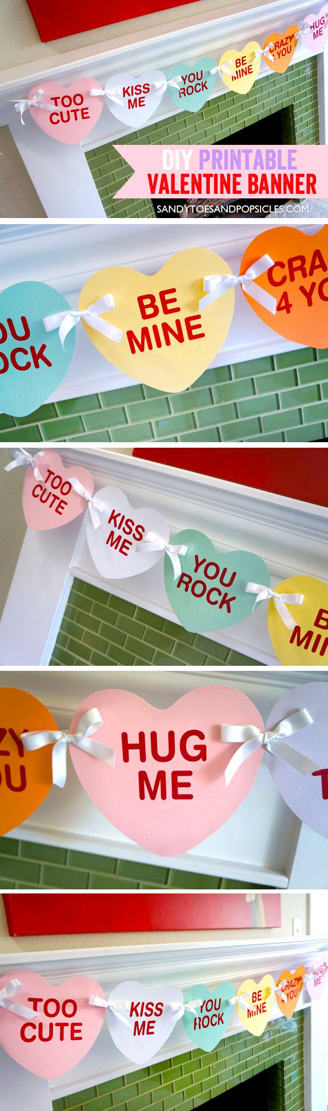 Valentines Day Gifts Diy Valentine S Day Banner Free Printable