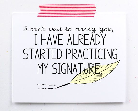 Engagement card, Cant wait to marry you.  wedding, valentines day card. practici...