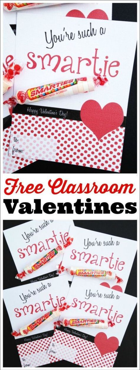 Valentines Day Gifts : Free printable classroom Smarties Candies ...