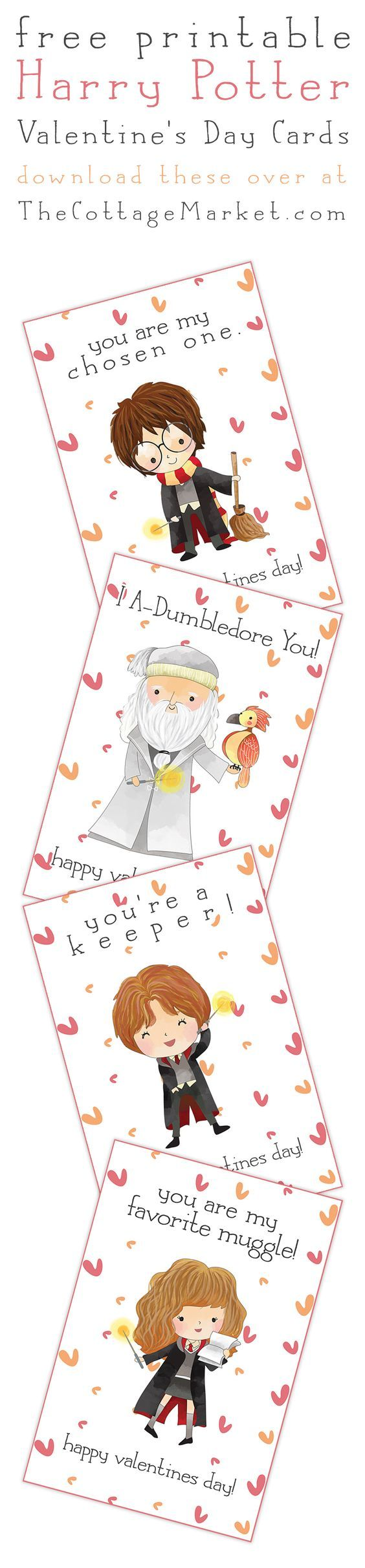 Free Printable Harry Potter Valentine's Day Cards