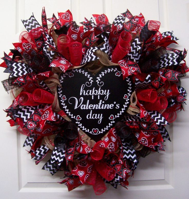 Valentines Day Gifts Happy Valentines Day Burlap Wreath