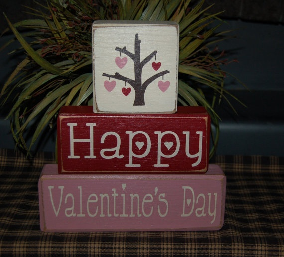 Valentines Day Gifts Happy Valentines Day Heart Love Tree Wood By