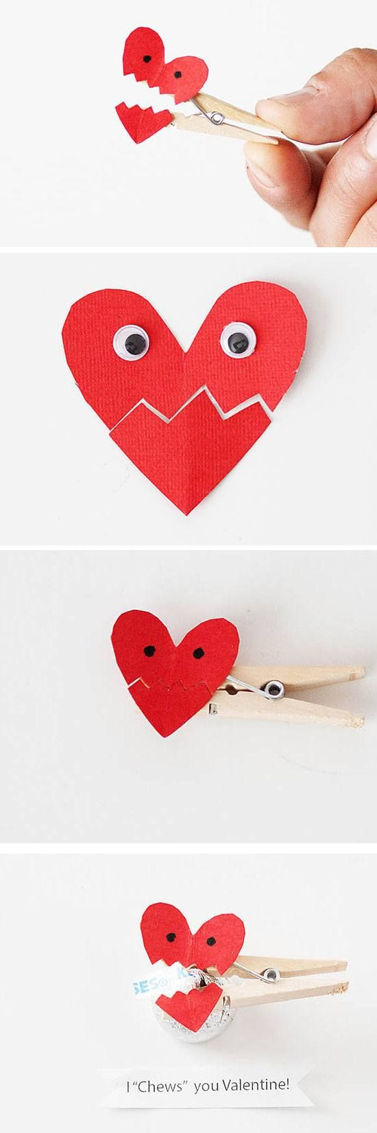 Valentines day gifts i chews you valentine diy for Crafts for kids to make as gifts