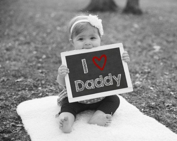 Valentines Day Gifts I Love Daddy Printable Chalkboard Sign Baby