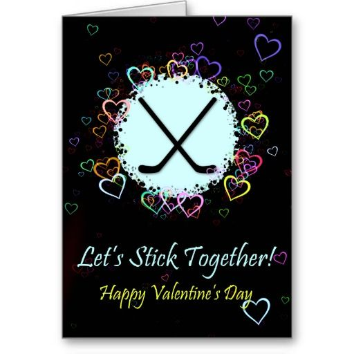 valentines day gifts ice hockey valentines day card easy to