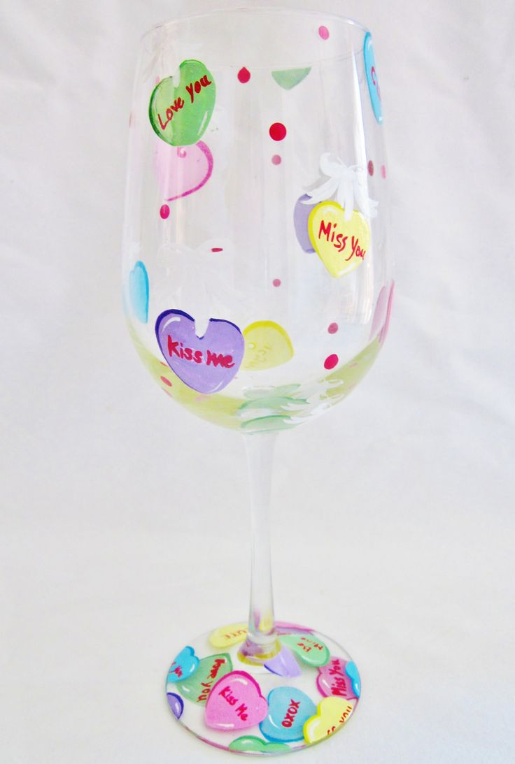 Valentines Day Gifts : painted wine glasses ideas for valentines day ...