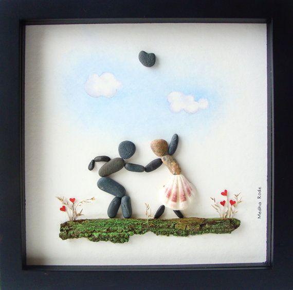 Pebble journée cadeau  Engagement Unique cadeau  Art  par MedhaRode