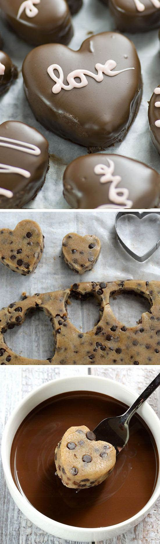 Perfect Valentines day treat for your honey - Chocolate Chip Cookie Dough Valent...