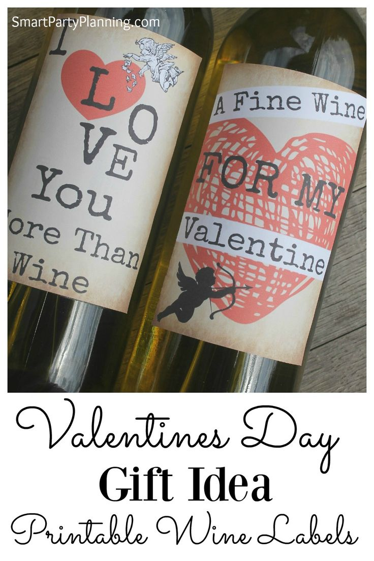 Printable wine labels make the perfect Valentine's Day gift idea. Easy to us...