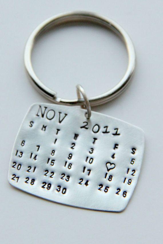 Valentines Day Gifts Valentines Calendrier Keychain Silver Par