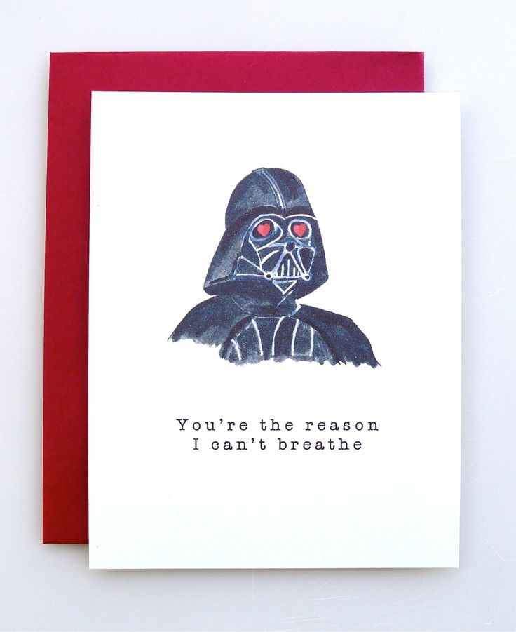 Valentines Day Gifts Valentine S Day Card Darth Vader Funny