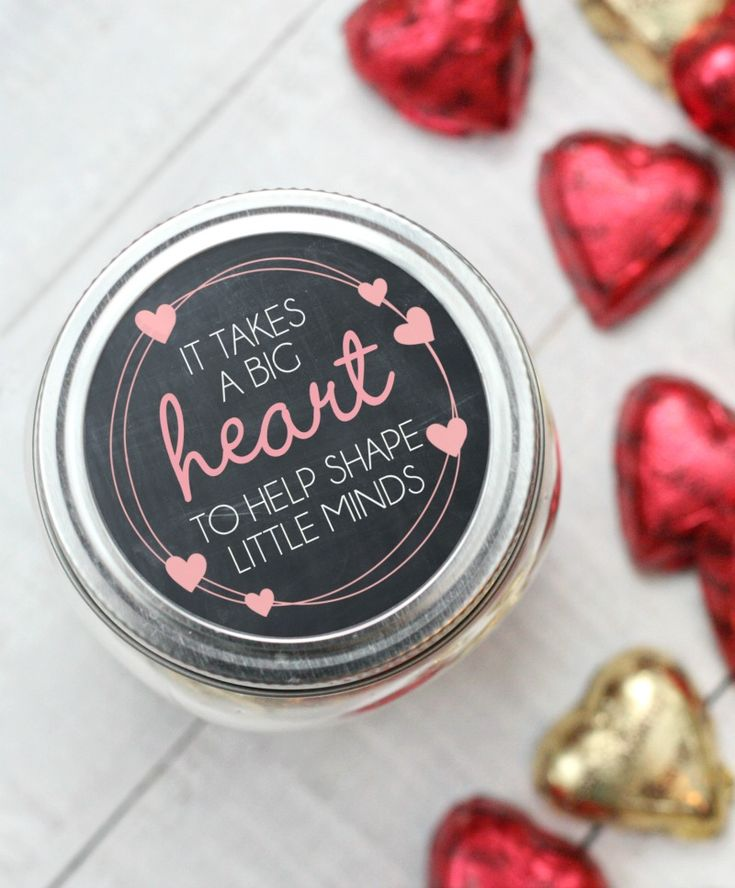 Valentine's Day Teacher Gift {Free Printable} - Happy-Go-Lucky
