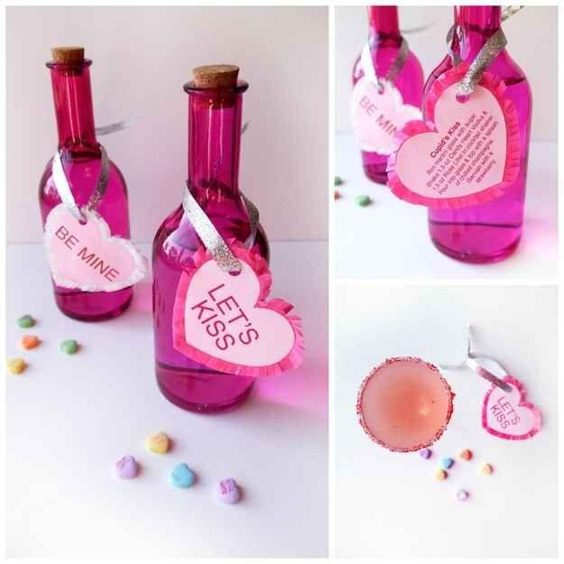 Vodka Conversation Hearts | 40 Unconventional DIY Valentine's Day Cards