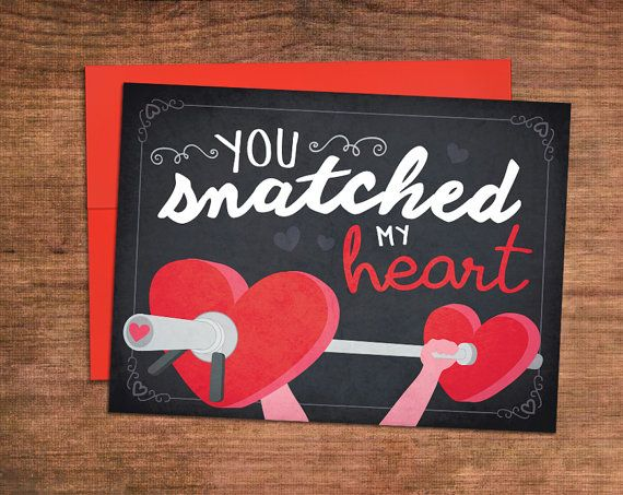Valentines day gifts weightlifting valentines day card for A perfect valentines gift for her