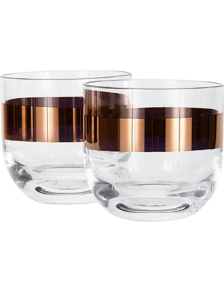 TOM DIXON Tank whiskey glasses set of 2