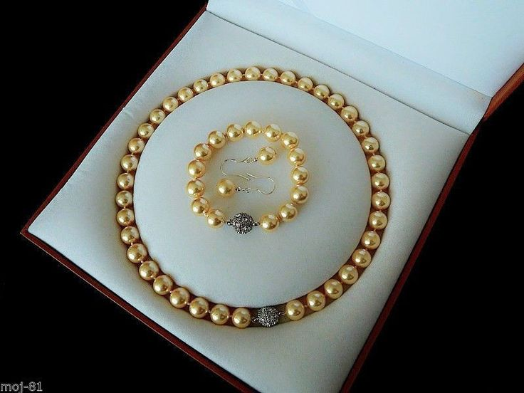 Birthday Gifts Gorgeous Glowing 9mm Golden South Sea Pearl