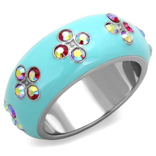 Birthday Gifts A Perfect Aqua Enamel Pink Crystal Eternity Wedding