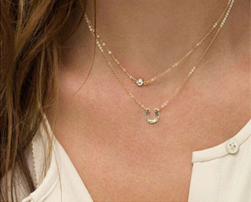 Celebrity Inspired Gold Layer Charm Necklace