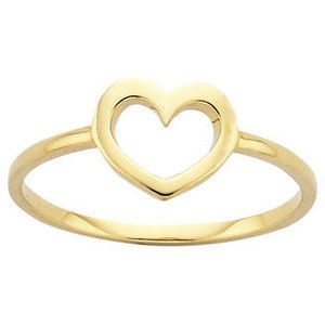 Birthday Gifts Gold Mini Heart Ring Giftsdetective Com Home Of