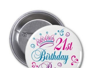 Birthday Gifts Ideas 21st Princess Pinback Button