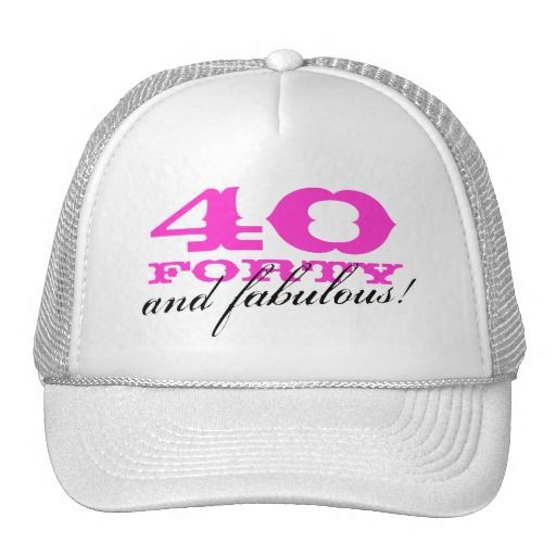 Birthday Gifts Ideas 40th Hat