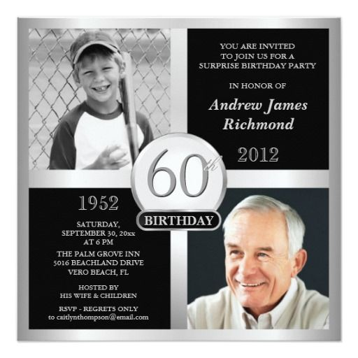 Birthday Gifts Ideas 60th Invitations Then Now Photos